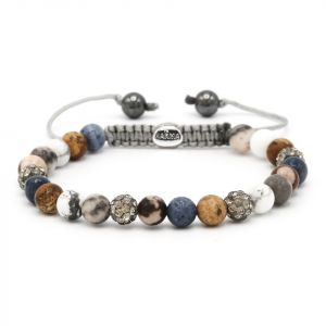 Karma Armband 83473 Spiral Blueberry Bakery XS (Grey Crystal)