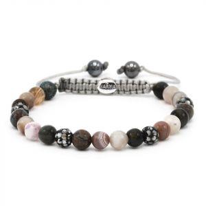 Karma Armband 83498 Spiral Madness XS (Grey Crystal)