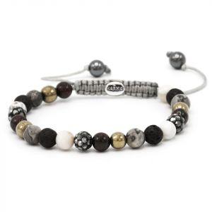 Karma Armband 83499 Spiral Gold Spark XS (Grey Crystal)