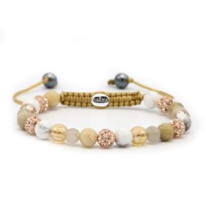 KARMA armband Spiral Touch of Gold XS (rose crystal) 83588