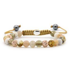 KARMA armband Spiral Velvet XS (rose crystal) 83593