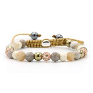 KARMA armband Spiral Rose Gold XS (rose crystal) 83596