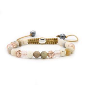 KARMA armband Spiral Rosegarden XS (rose crystal) 83601