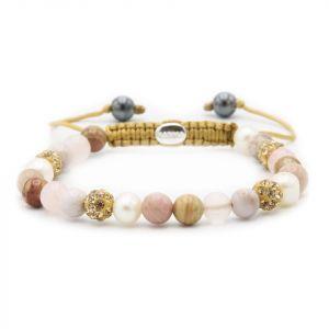 KARMA armband Spiral Soft Pearls XS (goldcrystal) 83608