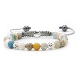 KARMA armband Spiral Pastel Love XS (white crystal) 83628
