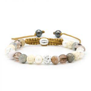 Karma armband 83722 Spiral Canada XS (white crystal)