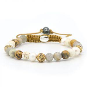 Karma armband 83751 Spiral Sahara XS (gold crystal)