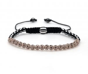 Karma Armband 84146 Spiral Champagne Crystal XXS