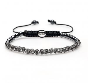 Karma Armband 84149 Spiral Grey Crystlal XXS