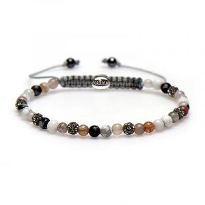 KARMA armband Spiral Gorgeous Grey XXS (grey crystal) 84340