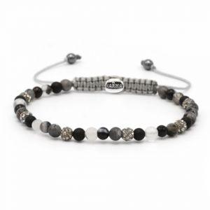 Karma Armband 84365 Spiral Fairy Tale XXS (Grey Crystal)