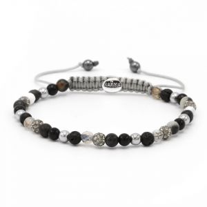 Karma Armband 84366 Spiral Full Moon XXS (Grey Crystal)