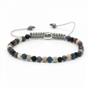 Karma Armband 84373 Spiral Charms XXS (Blue Crystal)