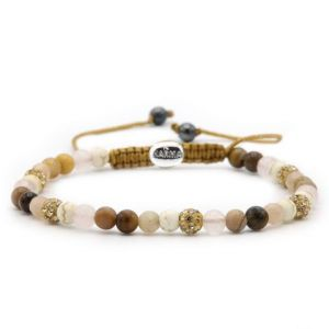KARMA armband Spiral Simply Brown XXS (gold crystal) 84397