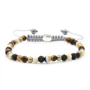 KARMA armband 84418 Spiral When The Lights Go Out XXS (black crystal)