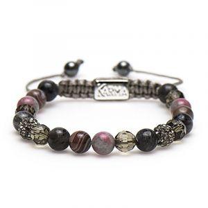 Karma Armband 85251 Spiral Wonderful Life M (Grey Crystal)