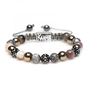 KARMA armband 85304 Spiral Novya M (Grey Crystal)