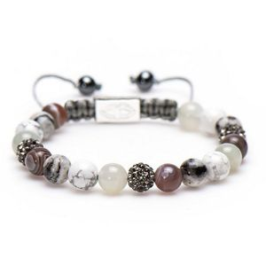 KARMA armband Spiral Gorgeous Grey M (grey crystal) 85318