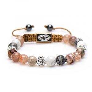 KARMA armband Spiral Sandy Sandal M (whitecrystal) 85323