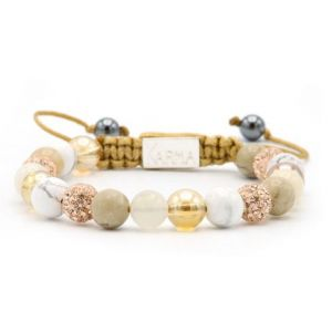 KARMA armband Spiral Touch of Gold M (rosecrystal) 85331