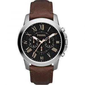Fossil horloge FS4813 - Leer - Bruin