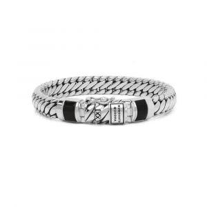 BUDDHA TO BUDDHA armband J070BL Junior BEN XS Stone Black Zilver
