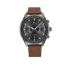 TOMMY HILFIGER TH1791730 Horloge - Leer - Bruin - Ø 44 mm