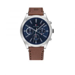 TOMMY HILFIGER TH1791741 Horloge - Leer - Bruin - Ø 44 mm