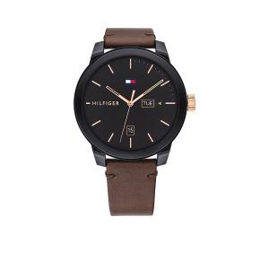 TOMMY HILFIGER TH1791748 Horloge - Leer - Bruin - Ø 44 mm