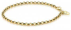 ZINZI zilveren armband goud verguld ZIA1009G (Lengte 19cm)