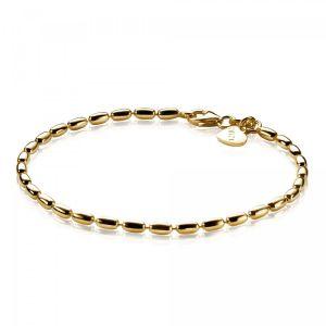 ZINZI zilveren fantasie armband geel verguld 19cm ZIA1125G