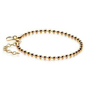 ZINZI zilveren armband goud verguld ZIA1127G (Lengte 17,5 - 20,5 cm)