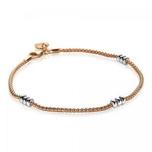 ZINZI zilveren armband rosé verguld ZIA1421B (Lengte 18,5cm)