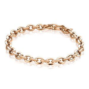 ZINZI zilveren armband rosé verguld ZIA1614R (Lengte 19,5cm)