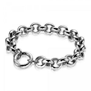 ZINZI zilveren jasseron armband 11mm breed 20cm ZIA407
