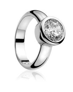 ZINZI ring ZIR050 - Zilver 925 - Zirkonia