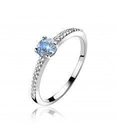 ZINZI ring ZIR1081B - Zilver 925 - Zirkonia