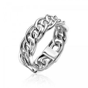 ZINZI zilveren ring gourmet glad 6,5mm ZIR1100S