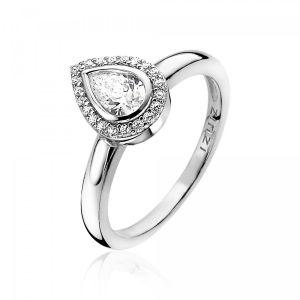 ZINZI ring ZIR1303 - Zilver 925 - Zirkonia