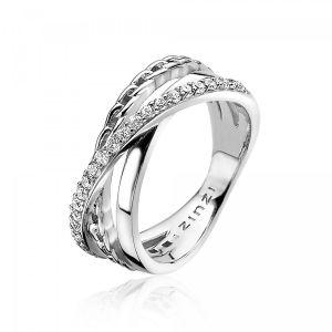 ZINZI ring ZIR1360 - Zilver 925 - Zirkonia