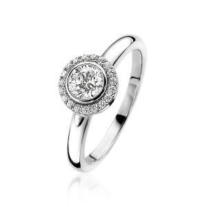 ZINZI ring ZIR1392 - Zilver 925 - Zirkonia