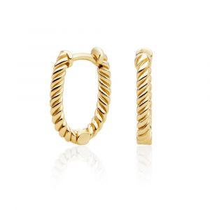 Sparkling Jewels Oorringen - Twist Gold - Polished EAG21