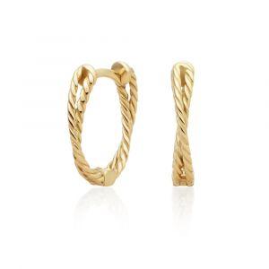 Sparkling Jewels Oorringen - Double Twist Gold - Polished EAG22