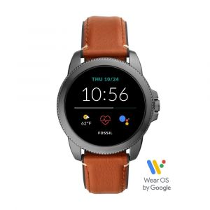 FOSSIL FTW4055 GEN 5E SMARTWATCH - BROWN LEATHER