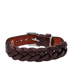 Fossil Leather Essentials Bruine No Band armband voor Heren JF03851040