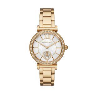 Michael Kors MK4615 Horloge ABBEY Staal Goudkleurig-Wit 36mm