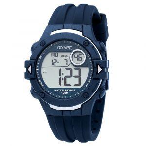 Olympic OL45HKR007 Hiking Horloge - Siliconen - Blauw - 42mm