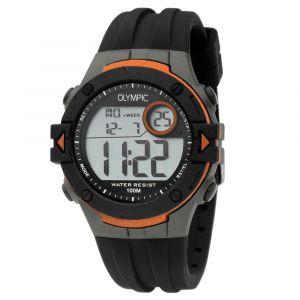 Olympic OL45HKR008 Hiking Horloge - Siliconen - Zwart - 42mm