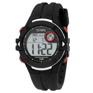 Olympic OL45HKR009 Hiking Horloge - Siliconen - Zwart - 42mm