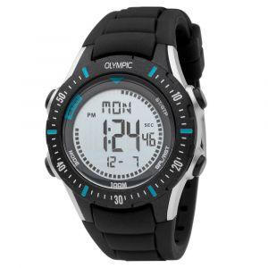 Olympic OL45HKR011 Biking Horloge - Siliconen - Zwart - 40mm
